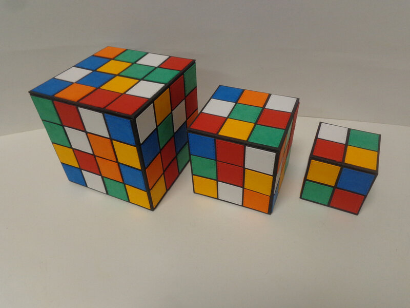 "Boites ""Rubik's Cube"""