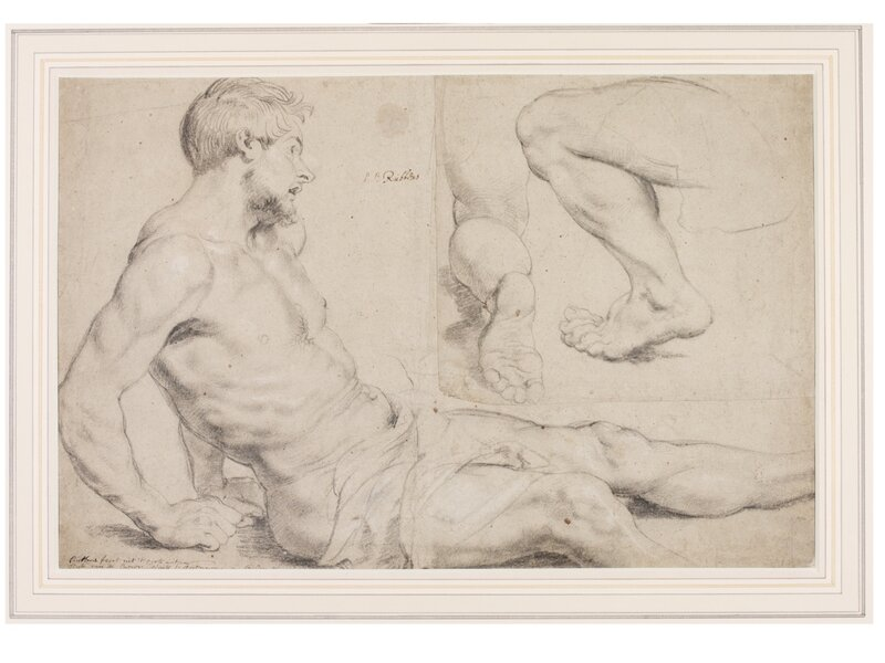Study_of_a_Nude_and_Two_Studies_of_Legs_in_a_Kneeling_Position_Peter_Paul_Rubens_about_1617-18_c_Victoria_and_Albert_Museum_London
