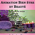 Animation bien être et beauté