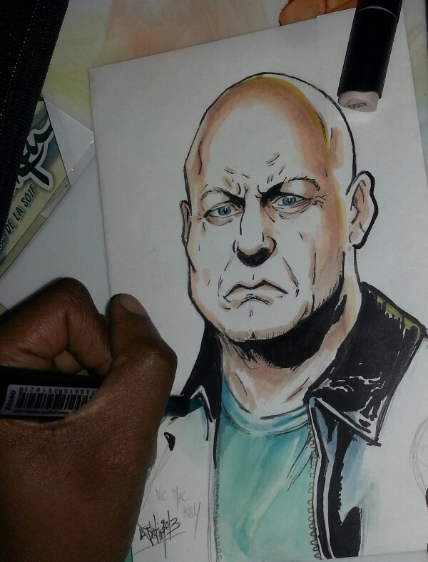FANART THE SHIELD Vic Mackey farmington shawn ryan kurt sutter michael chiklis strike team Djiguito chocoblog de djigui