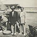 Le départ sur le port :Edouard Courthès et Gerorges Courthès