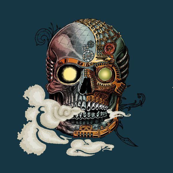 steampunk-skull