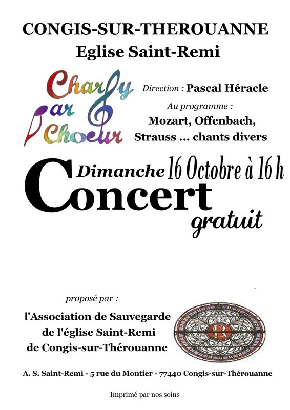 Copie de Affiche Charly par choeur - 16 octobre 2016