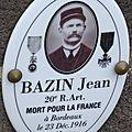 Bazin jean (gournay) + 23/12/1916 bordeaux (33)