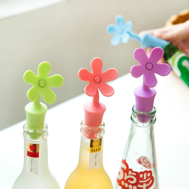 jeuNew-Wine-Bottle-Stopper-Silicone-Flowers-Bar-Tools-Preservation-Wine-Stoppers-Kitchen-Wine-Champagne-Stopper-Beverage