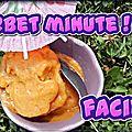 Sorbet minute à l'abricot ( ou tout autre fruit)