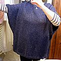 pull tunique bleu chiné.