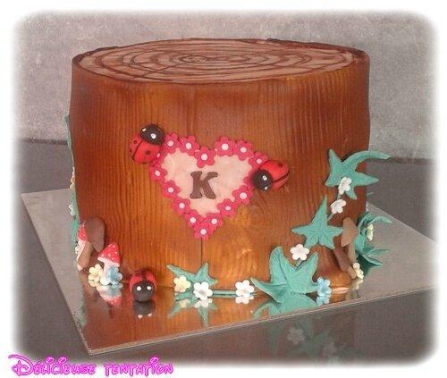 Gâteau tronc d'arbre
