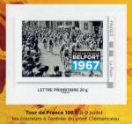 Timbre Belfort Tour de France 1967