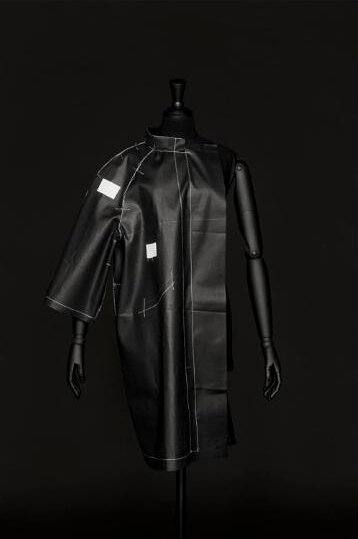 Cristóbal Balenciaga, Toile for a leather coat with a print on a white ground, Tailleur atelier M