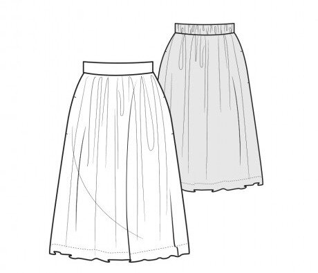Pattern Runway - Easy Gathered Skirt