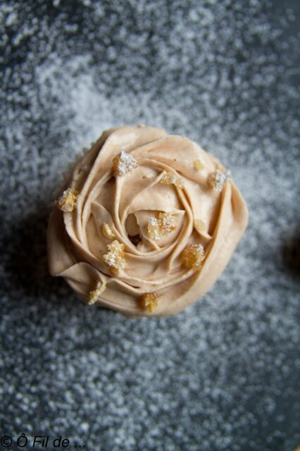 cupcake inclusion marron glacé et crème de marron vanillée 4