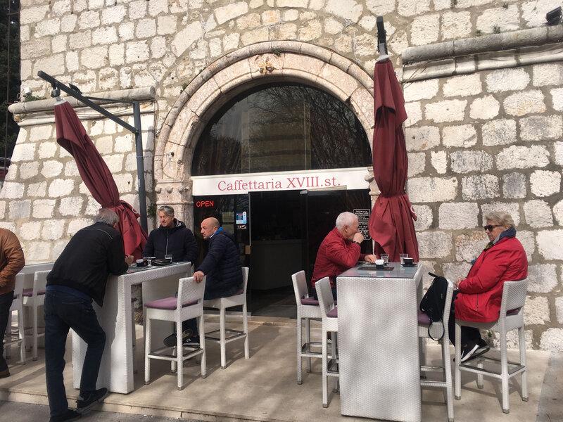 Krk, la cafétéria XVIIIe siècle, 10 mars 2020