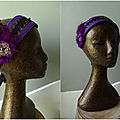 headband tribal fusion violet