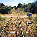 Cosne-Sur-Loire, cyclo-rail, les rails, croisement (58)