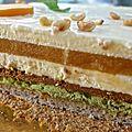 entremets abricot-pistache-chocolat blanc