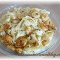 crevettes aux curry aux tagliatelles