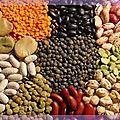 Gros plan sur les légumes secs