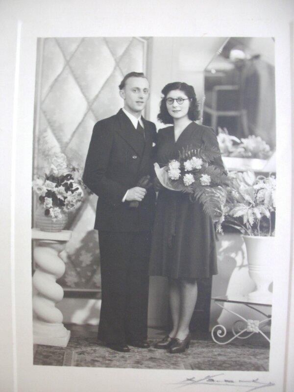 Mariage 1947 Per bihen et Marie Thérèse Hanoulle