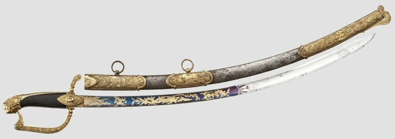 A magnificent Royal Bavarian presentation sabre, awarded for bravery, dating from the reign of Maximilian I Joseph (1806 – 1825)