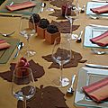 Table orange et marron (automne)