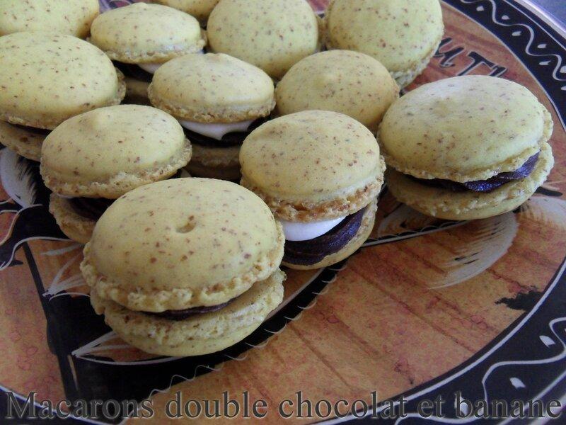 macarons double chocolat et banane1
