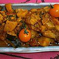 Wok de poulet au curry