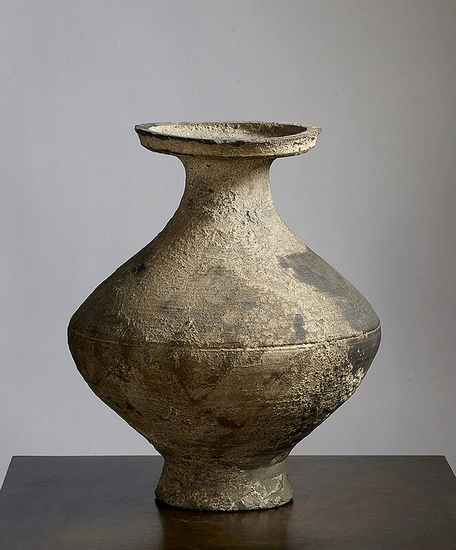 Vase de forme Hu, Chine, dynastie Han (206 BCE – 220 CE)