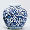 A blue and white jar, 18th century