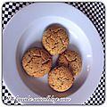 Biscuits sucrés salés à la poudre d'amande et graines de pavot, sans gluten, sans lactose