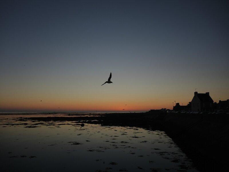 Penmarc'h, Kérity, fin de coucher de soleil, octobre