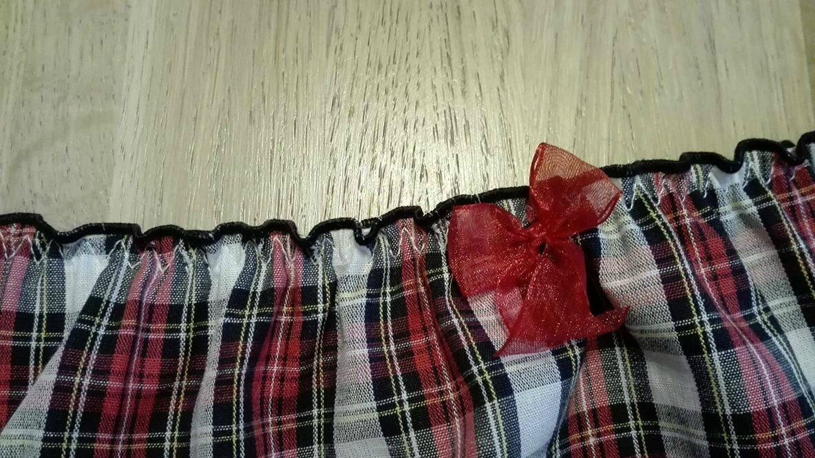 Culotte CHARLOTTE en coton écossais rouge - taille M (2)