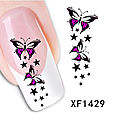 Destockage boutique ! 2 € stickers papillon ongle manucure nail art xf 1419 (2€ port gratuit)