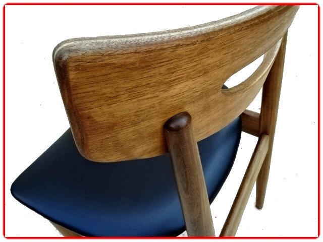 chaises vintage scandinave samcom teck