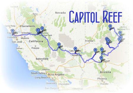 Road Trip USA-Ouest américain juillet 2013 - etape 14 CAPITOL REEF chez Gloewen et Scrat