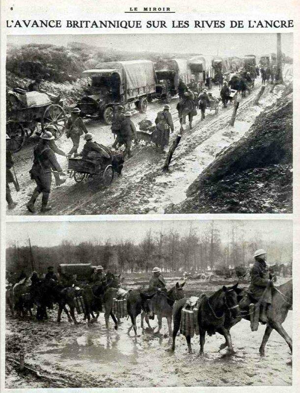 Troupes britanniques Somme Le Miroir 02 11 1916