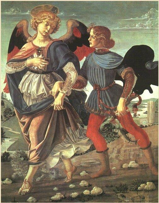 l'Archange Raphaël et le jeune Tobie