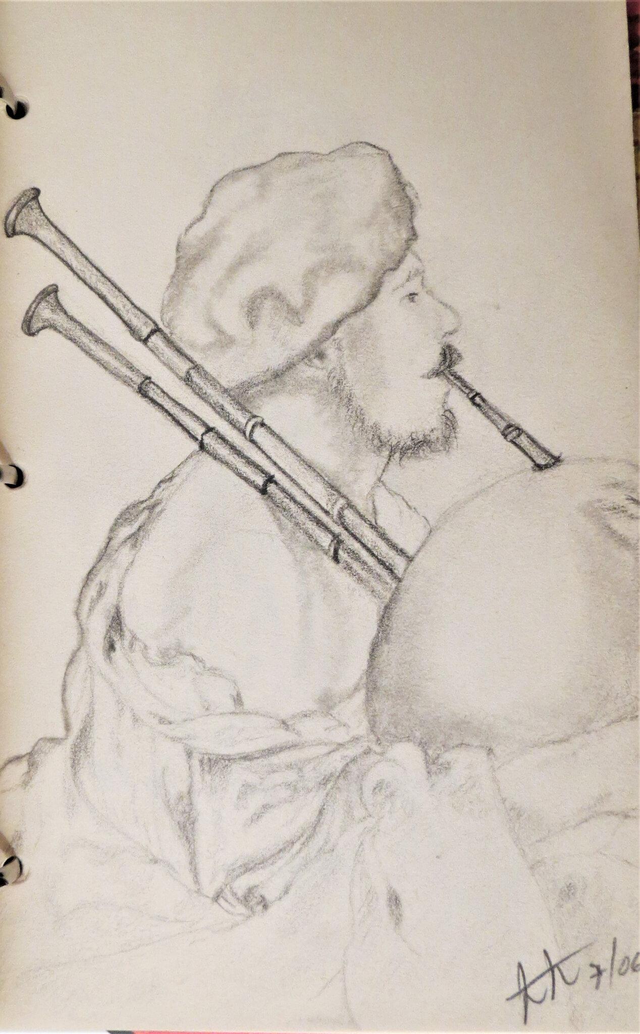 Bagpipe player 1624 , Bruggen