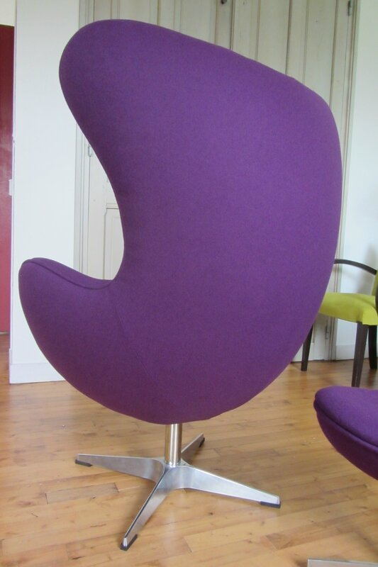 fauteuil Egg tissu lana II Englisch Dekor