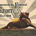 1908, concours musical à belfort