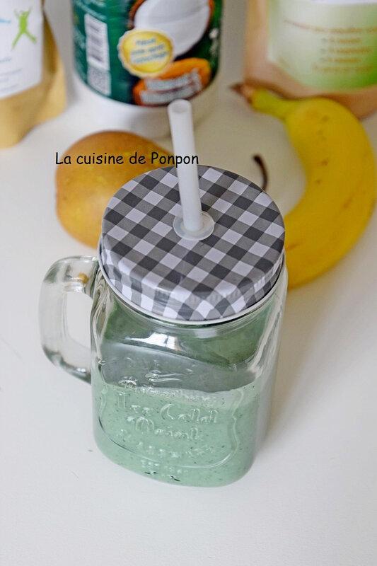 smoothie poire banane coco et spiruline (6)