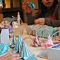 Atelier origami pour une fête d'anniversaire