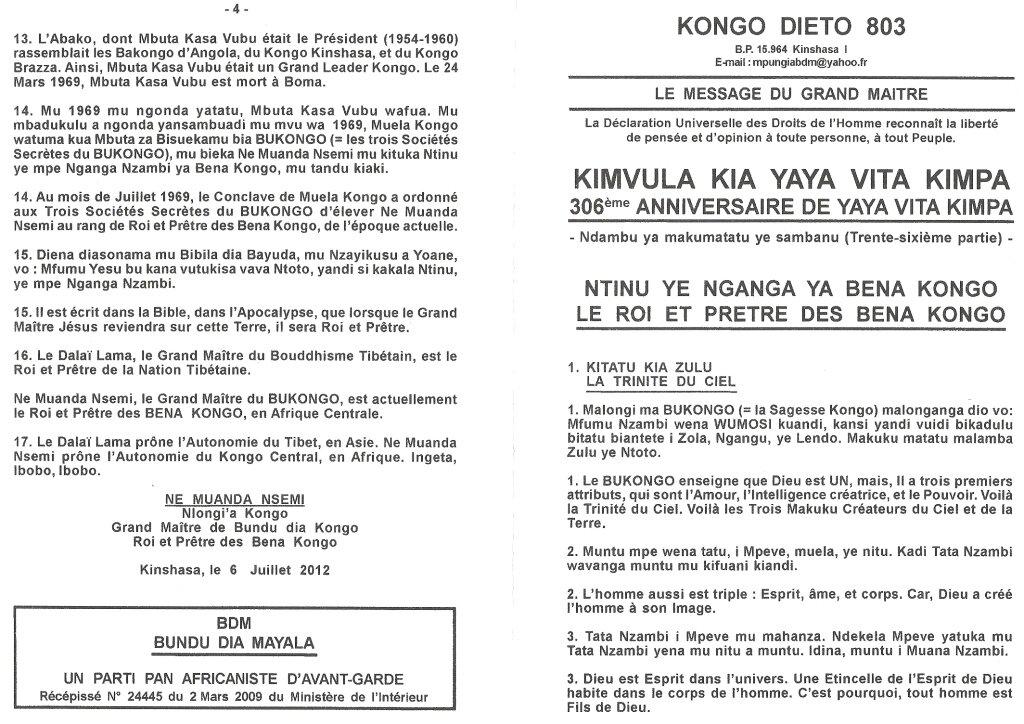 KONGO DIETO 803 a