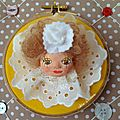 Broches art doll tarte au citron meringué et sa chantilly