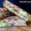 Croque monsieur courgette bacon comté