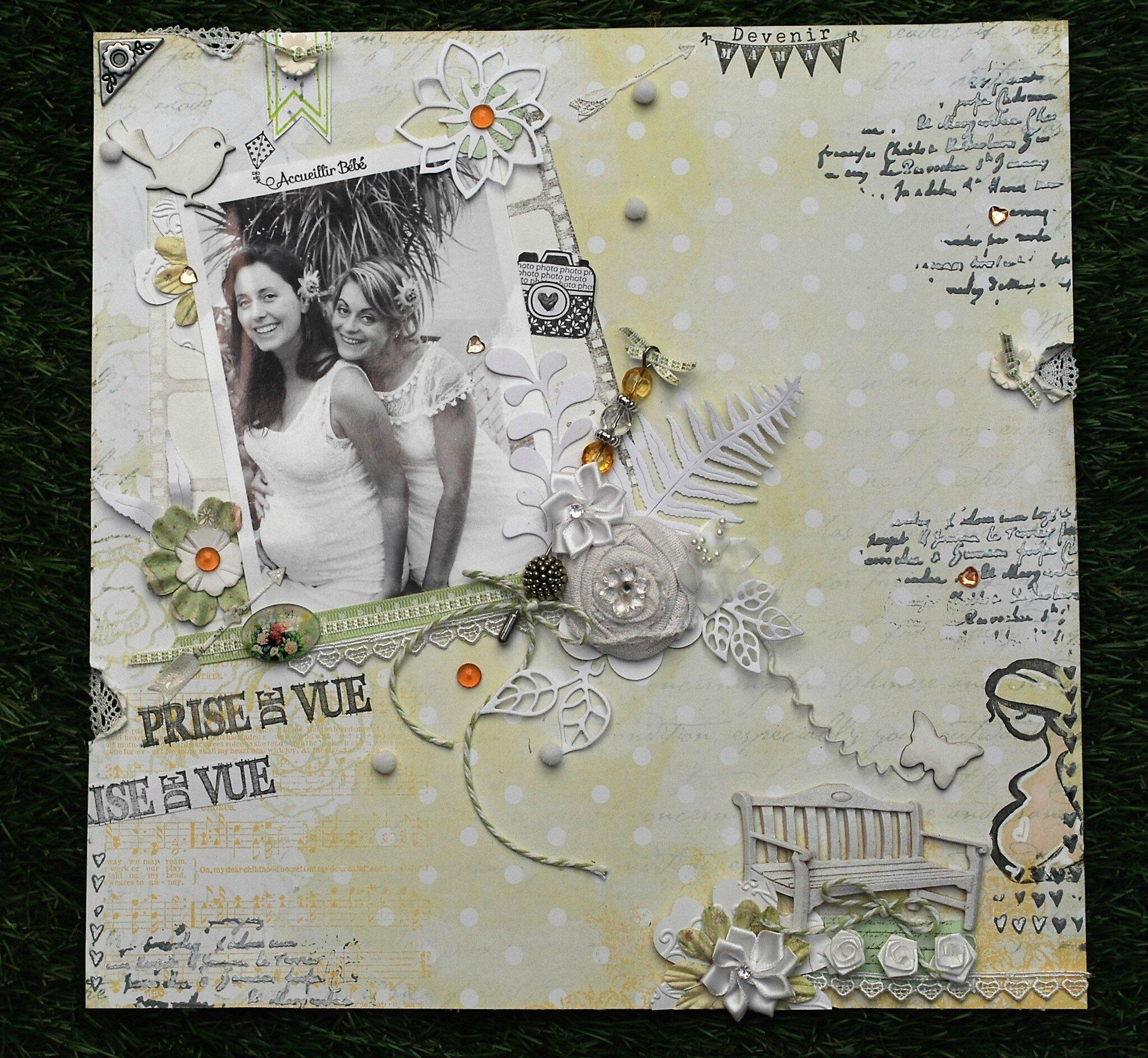 Un joli papier Une jolie photo et c'est parti!!!!!!