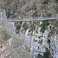 Gorges d'Holzarté, la passerelle, profil