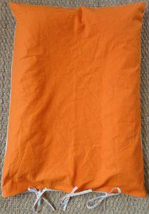 Housse matelas à langer orange