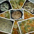 Farfalle sauce crème et champignons, brie et noix