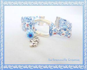 Bracelet bleu nounours (1)